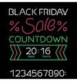 Black friday sale timer vector image