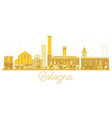 bologna italy city skyline golden silhouette vector image vector image