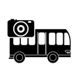 bus and photographic camera icon vector image