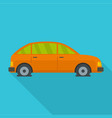 car in water icon flat style vector image vector image