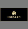 ch hexagon logo vector image vector image