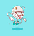 character doodle style tablet vector image vector image