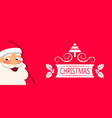 cheerful santa claus christmas greeting card vector image vector image
