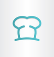 chef icon cooking hat vector image vector image