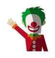 circus clown icon vector image vector image