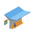 city transport terminal isometric 3d icon vector image vector image