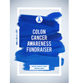 colorectal cancer awareness creative grey and blue vector image vector image