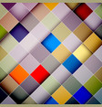 colorful squares diagonal abstract background vector image