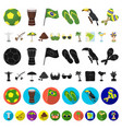country brazil cartoon icons in set collection for vector image