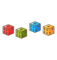 cubes with holes denoting numbers rpg game dice vector image vector image