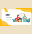 dentist landing page patient examination at vector image