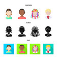 design of imitator and resident icon vector image