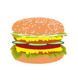 double burger vector image vector image