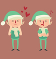 Expressive Elf in Different Poses vector image vector image