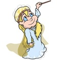 Fairy With Magic Wand vector image vector image