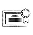 figure graduation diploma certificate with wood vector image vector image
