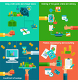 Flat concepts for banking set vector image vector image