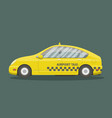 flat yellow taxi vector image