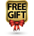 free gift golden label vector image vector image