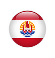 french polynesia flag on button vector image vector image