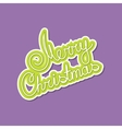 Green Text Merry Christmas on Purple Background vector image