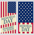 Happy Memorial Day greeting card flyer Happy vector image vector image