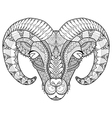 horn sheep coloring vector image vector image