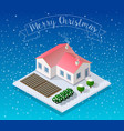 isometric landscape snow vector image vector image