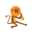 lion playing saxophone cartoon animal character vector image