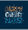 merry christmas retro type design holiday season vector image vector image