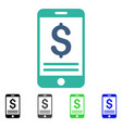 mobile banking flat icon vector image vector image