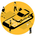 online taxi car order vector image
