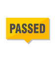 passed price tag vector image vector image