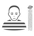 Prisoner Icon With Bonus vector image vector image
