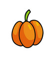 pumpkin cartoon icon vector image vector image