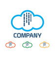 rain cloud logo vector image
