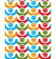 Seamless background with colorful smiley faces vector image vector image