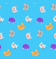 seamless pattern wuth cats vector image vector image