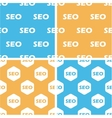 SEO pattern set colored vector image vector image