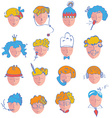 Set of people icons of different occupations vector image vector image