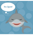 Shark says bon appetit vector image vector image