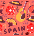 spain flamenco music culture seamless pattern vector image