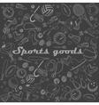 Sport goods line art design vector image vector image