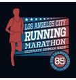 Sport Running Marathon T-shirt Typography Graphics vector image vector image