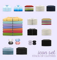 stack of clothes icon set vector image