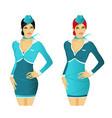 stewardesses vector image vector image