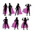 super woman silhouettes vector image