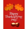 Thanksgiving Day greeting card invitation banner vector image vector image