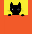the angry black cat vector image