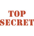 top secret square sticker top secret vector image